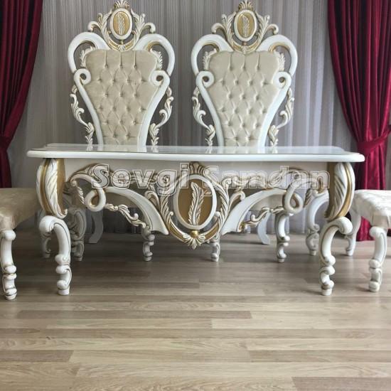 Nikah Masası sandalyeleri ve pufları