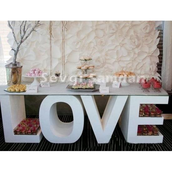 Love Masa Ahşap